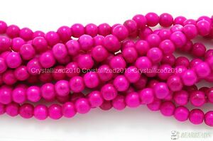"""Howlite Turquoise Gemstone Round Loose Beads 2mm 3mm 4mm 6mm 8mm 10mm 12mm 16"""""""