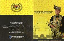 MALAYSIA INSTALLATION OF HIS MAJESTY YANG DI-PERTUAN AGONG XIV BU Coin Card 2012