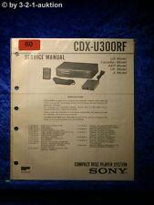 Sony Service Manual CDX U300RF CD Wechsler (#0060)