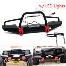 Aluminum Front Bumper w/ Winch Mount LEDs for Traxxas TRX-4 1/10 RC Crawler CAR