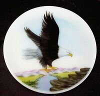 Fenton Art Glass Majestic Eagle Flight Plate Designer Series Limited to 1250