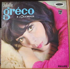 JULIETTE GRECO A L'OLYMPIA  FRENCH LP PHILIPS 1966