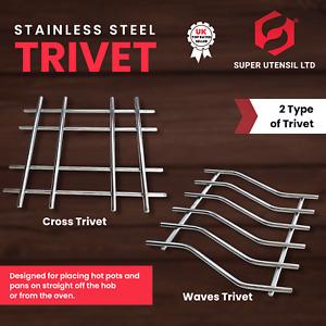 Kitchen Trivet Worktop Saver Hot Pot Pan Stand Rack Stainless Steel superutensil