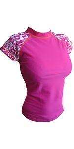 Billabong Womens Surf Short Sleeved Rash Vest Top Size S,M,L UK 8,10,12. B4GY17.