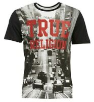 True Religion Men's Tshirt Car TR Crew Neck Tee White/Black LARGE 69$ NWT new