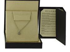 Bvlgari Diamond 18K White Gold Necklace Pendant
