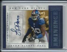 2012 PROMINENCE JASON PIERRE-PAUL AUTO AUTOGRAPH #D5/5 NEW YORK GIANTS