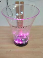 LED ILLUMINATED MOET & CHANDON ICE BUCKET PUB/BAR/MANCAVE pink and white lights