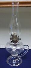 Hurricane Oil Lamp Glass Chimney Finger Handle Eagle Burner Vintage Large EAPC