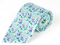Authentic HERMES Silk Tie Blue r1241
