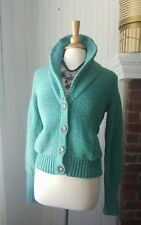American Eagle shawl neck cardigan sweater blue green dress jeans large 10 12 14