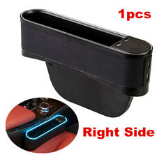 Car Accessories Blue LED Seat Gap Slit Pocket Bag Storage Organizer w/4 USB Port