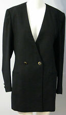 BRAEMAR by Michelle Monet Size 6 100% Pure Wool Black Blazer (Made in Canada)