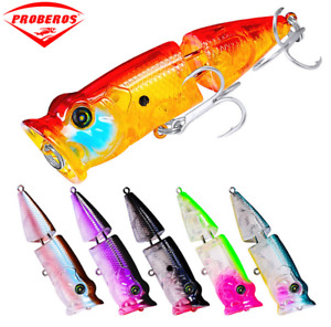 6pcs/Lot 11.5g/8cm Topwater Popper Fishing Lure Bass Trout Hard Bait Tackle Lure