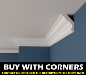 XPS Polystyrene Wall Ceiling Coving Cornice BFA12 Decoration Lightweight QUALITY