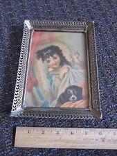 Cocker Spaniel Cute Vintage Print Child (Renaissance style) Picture Unique Old