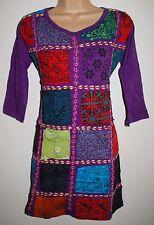 New Gringo Fair Trade Minidress M L 10 12 - Hippy Hippie Ethnic Boho Patchwork