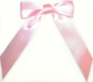 PRE-TIED SATIN RIBBON BOWS (23MM WIDE RIBBON) CRAFTS CHOOSE PACK SIZE ART 101008