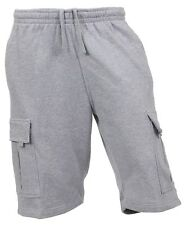 PROCLUB Mens CARGO SHORTS Fleece SWEATPANTS 6 Pockets Basic Gym Heavyweight