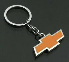 "Chevrolet Chevy Car Logo Keychain Key Ring Yellow 2"" US Seller"