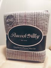 New Peacock Alley Upcycled Ecoflannel King Sheet Set Made In Portugal. Gray Red