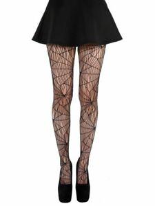 Pamela Mann Black Cobweb Tights Halloween Hosiery XL Plus Size Fancy Dress 20-26