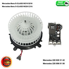 Heater Blower Motor fit for Mercedes W220 W215 A/C 2208203142 with RESISTOR