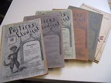 """LOT 8 REVUES """"POITIERS ETUDIANT"""" 1901-06 DU FONTENIOUX MARTINEAU NEEL POESIES"""