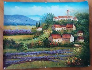 Original Oil Painting On Canvas 90*70 cm unframed wall art (Spring in village)