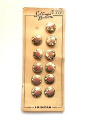 """Satsuma Buttons  Hand Painted Floral   15/16""""  (11)"""