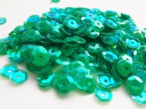 Pailletten Grün Smaragd irisierend gewölbt 6 mm 15g basteln, nähen Styropor LC26