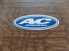 1 NEW AC RACING BLUE ATV MX STICKER DECAL HONDA TRX 250R 450R LTR 450 YFZ Z400
