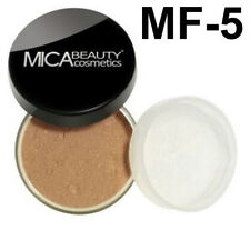 MICA BEAUTY Mineral Foundation #MF5 Cappuccino +3 x Micabella Eye Vibrant Colors
