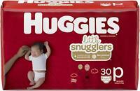 Huggies Little Snugglers, Baby Diapers, Size Preemie, 30 Ct
