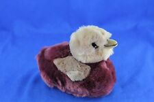 Vintage Steiff Plush Duck Glass Eyes Squeaker Large Button Tag 1980'S