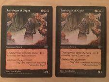 MTG x2 HARBINGER OF NIGHT 2x NM Mirage Rare (Free Shipping!) Magic the Gathering