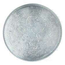 Werner Voß Tablett mit floralem Muster Aluminium 47,5 cm silber