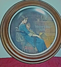 MOTHER'S DAY FRAMED PLATES BY NORMAN ROCKWELL W/ CERTIFICATES, STILL IN BOX (13)