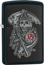 Zippo Choice SOA Sons of Anarchy SAMCRO Reaper Emblem Lighter Black Matte 29489