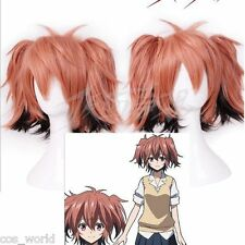 Akuma no Riddle Ichinose Haru Short Brick Ponytails Anime Cosplay Equipped Wigs