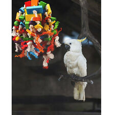 New listing Bird Chewing Toy Hanging Swing Tearing Toy Bird Cage Parakeet Bite Toys