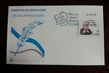 SPD SOBRES PRIMER DIA 1997 DIA DE LAS LETRAS GALLEGAS ANGEL FOLE