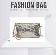 Elegant Sequins Evening Clutch Purse Chain Handbag Shoulder Crossbody Bag
