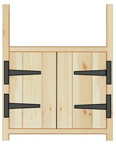 Pine Rustic Farmhouse Style Kitchen Belfast Unit for 600mm Sink