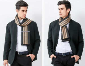 New Men Classical scarves winter Warm cashmere Scarf luxury Brand High Quality