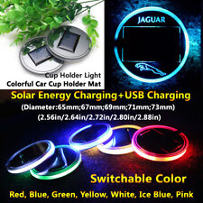 1pcs Solar Energy Coaster Car LED Light Lamp Accessories For Jaguar Lights Parts