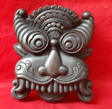 Antique Yali Wooden Wall Panel Dragon Statue Handcarved Sculpture Folk Art Mask
