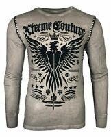 Xtreme Couture by AFFLICTION Men's THERMAL T-Shirt INTENSITY Biker MMA