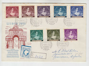 portugal 1953 Sc 764/91 cent.of p.stamps FDC,toned spot     s331