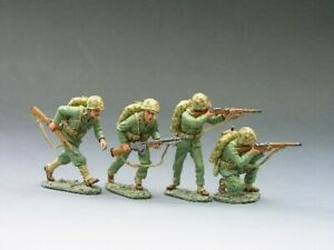 King & Country IWJ021 U.S. Marines Running For Cover Battle Of Iwo Jima New